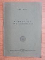 Anticariat: Emil Virtosu - Chirilicale. Note de paleografie romaneasca (1940)