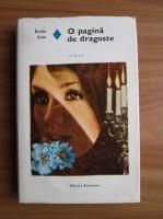 Emile Zola - O pagina de dragoste (coperti cartonate)