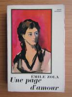 Emile Zola - Une page d'amour
