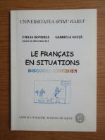 Anticariat: Emilia Bondrea - Le francais en situations
