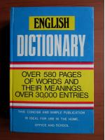 Anticariat: English Dictionary. Over 580 pages of words and their meanings. Over 30.000 entries