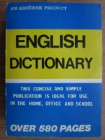 English dictionary. Over 580 pages