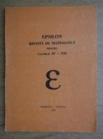 Anticariat: Epsilon. Revista de matematica pentru clasele IV-VIII