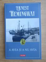 Anticariat: Ernest Hemingway - A avea si a nu avea