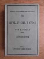Ernst Berger - Stylistique latine (1942)