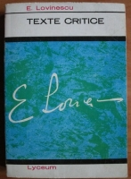 Anticariat: Eugen Lovinescu - Texte critice