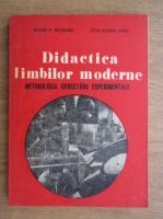 Eugen P. Noveanu - Didactica limbilor moderne. Metodologia cercetarii experimentale