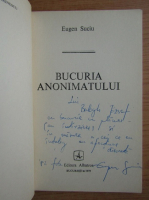 Anticariat: Eugen Suciu - Bucuria anonimatului (cu autograful si dedicatia autorului pentru Balogh Jozsef)