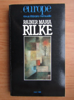 Europe. Revue litteraire mensuelle. Rainer Maria Rilke
