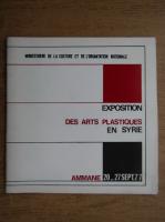 Anticariat: Exposition des arts plastiques en Syrie