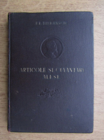 Anticariat: F. E. Dzerjinschi - Articole si cuvantari alese 1908-1926