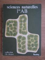 Anticariat: F. Villeneuve - Sciences naturelles 1re AB