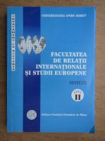 Anticariat: Facultatea de Relatii Internationale si Studii Europene. Sinteze, anul II