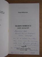 Fanus Bailesteanu - Marin Sorescu, studiu monografic (cu autograful autorului)