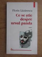 Florin Lazarescu - Ce se stie despre ursul panda