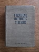 Formular matematic si tehnic