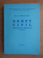 Anticariat: Francisc Deak - Drept civil. Contracte speciale (volumul 1)