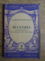 Francois de la Rochefoucauld - Maximes (1934)