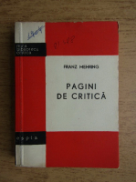 Anticariat: Franz Mehring - Pagini de critica