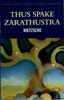 Friedrich Nietzsche - Thus spake Zarathustra