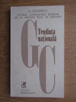 G. Calinescu - Tendinta nationala, Momentul 1901