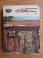 Anticariat: G. Dem. Teodorescu - Poezii populare romane (volumul 3)