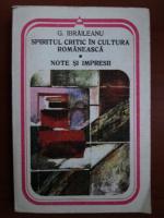 Garabet Ibraileanu - Spiritul critic in cultura romaneasca. Note si impresii