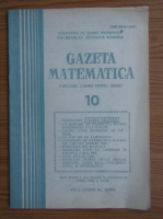 Anticariat: Gazeta Matematica, anul LXXXIX, nr. 10, 1984