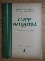 Anticariat: Gazeta Matematica, anul XXI, nr. 4, aprilie 1970