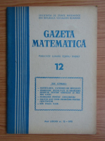 Anticariat: Gazeta Matematica, Seria B, anul LXXXIII, nr. 12, 1978