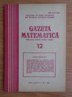 Anticariat: Gazeta Matematica, Seria B, anul LXXXVII, nr. 12, 1982