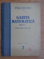 Anticariat: Gazeta Matematica, Seria B, anul XX, nr. 7, iulie 1969