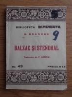 Anticariat: Georg Brandes - Balzac si Stendhal