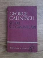 Anticariat: George Calinescu - Studii si comunicari
