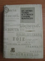 George Ivascu - Din istoria teoriei si a criticii literare romanesti (volumul1)
