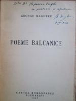 George Magheru - Poeme balcanice (1936, cu autograful autorului)