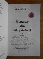 George Sovu - Misterele din vila parasita (contine autograful autorului)