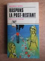 Anticariat: George Sovu - Raspuns la post-restant