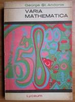 George St. Andonie - Varia mathematica
