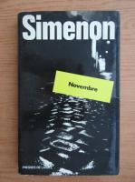 Anticariat: Georges Simenon - Novembre