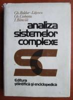Gh. Boldur - Analiza sistemelor complexe