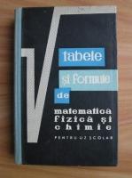 Anticariat: Gh. Calugarita - Tabele si formule de matematica, fizica si chimie