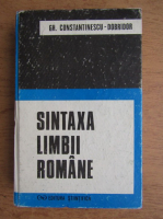 Anticariat: Gh. Constantinescu - Sintaxa limbii romane