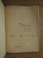 Anticariat: Gh. D. Mugur - Florile (1928, cu autograful autorului)