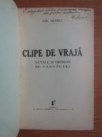 Gh. Nedici - Clipe de vraja (cu autograful autorului, 1935)