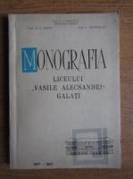 Gh. V. Chiricuta - Monografia liceului Vasile Alecsandri, Galati
