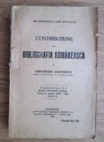 Gheorghe Adamescu - Contributiune la bibliografia romaneasca (fascicola a 2-a, 1923)