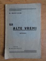 Anticariat: Gheorghe Bezviconi - Din alte vremi (1940)