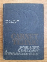 Gheorghe Costache, Gheorghe Gavan - Carnet tehnic. Forajul geologic si hidrologic