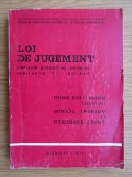 Anticariat: Gheorghe Cront - Loi de jugement. Compilation atribuee aux empereurs Constantin et Justinien